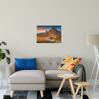 "Majestic Sunset & Alpine Mountain Pass Landscape Fine Art Canvas Wall Art Prints 20"" x 24"" / Canvas Fine Art - PIPAFINEART"