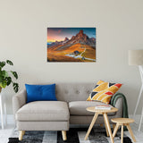 "Majestic Sunset & Alpine Mountain Pass Landscape Fine Art Canvas Wall Art Prints 24"" x 36"" / Canvas Fine Art - PIPAFINEART"