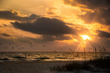 Anna Maria Island Cloudy Beach Sunset 1 Coastal Landscape Fine Art Canvas Prints  - PIPAFINEART