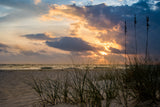 Anna Maria Island Cloudy Beach Sunset 2 Coastal Landscape Fine Art Canvas Wall Art Prints  - PIPAFINEART