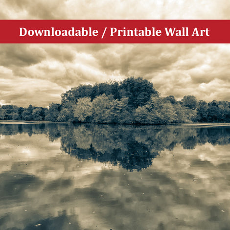 Autumn Reflections Split Tone Landscape Photo DIY Wall Decor Instant Download Print - Printable
