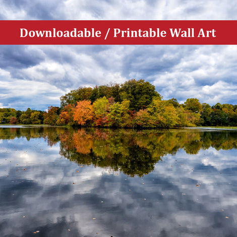 Autumn Reflections Landscape Photo DIY Wall Decor Instant Download Print - Printable