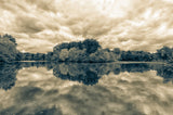 Autumn Reflections Split Toned Landscape Fine Art Canvas & Unframed Wall Art Prints - PIPAFINEART