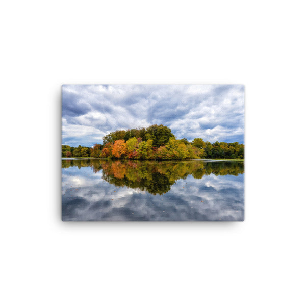 Autumn Reflections Rural / Farmhouse / Country Style Landscape Scene Photo Canvas Wall Art Prints
