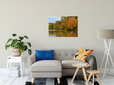 "24"" x 36"" Autumn Tree Line Rural / Farmhouse / Country Style Landscape Scene Photo Fine Art Canvas Wall Art Prints"