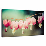 Be Still My Bleeding Heart Colorized Nature / Floral Photo Fine Art Canvas Wall Art Prints  - PIPAFINEART