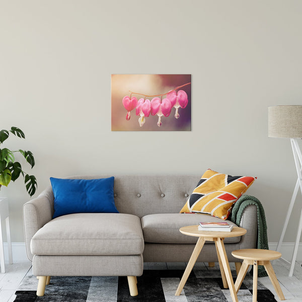 "Be Still My Bleeding Heart Warm Glow Floral / Nature Fine Art Canvas Wall Art Prints 24"" x 36"" / Fine Art Canvas - PIPAFINEART"