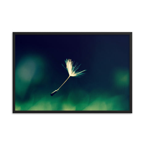 Blowing in the Wind Botanical Nature Photo Framed Wall Art Print