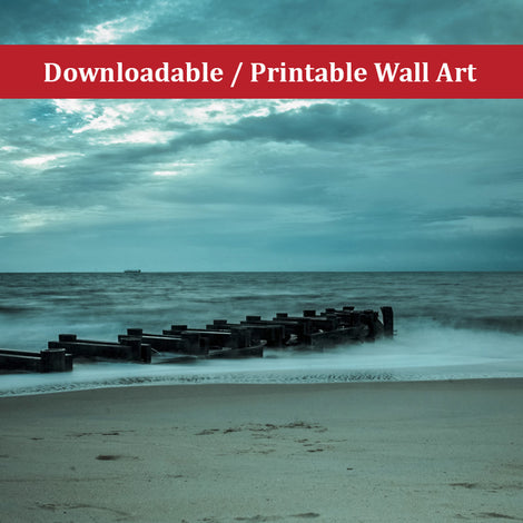 Blue Morning at Rehoboth Landscape Photo DIY Wall Decor Instant Download Print - Printable