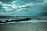 Blue Morning at Rehoboth Coastal Landscape Photo Fine Art Canvas Wall Art Prints  - PIPAFINEART