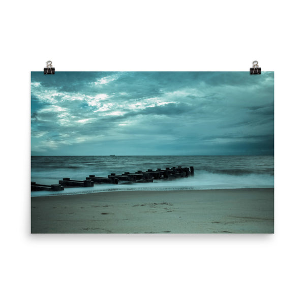 Blue Morning at Rehoboth Landscape Photo Loose Coastal Wall Art Prints (Unframed)