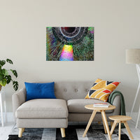 Bubble CD Abstract Photo Fine Art Canvas & Unframed Wall Art Prints - PIPAFINEART