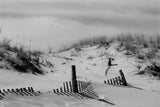 Buried Fences Black & White Landscape Photo Fine Art Canvas & Unframed Wall Art Prints - PIPAFINEART
