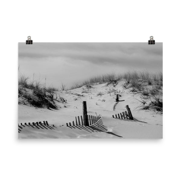 Buried Fences Landscape Photo Loose Coastal Wall Art Prints (Unframed)