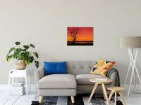"Burning Skies Rural Landscape Photograph Fine Art Canvas Wall Art Prints 20"" x 24"" / Canvas Fine Art - PIPAFINEART"