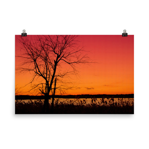Burning Skies Landscape Photo Loose Wall Art Prints