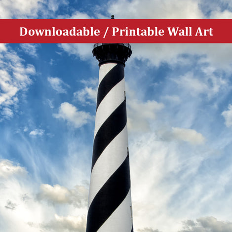 Cape Hatteras Lighthouse Landscape Photo DIY Wall Decor Instant Download Print - Printable