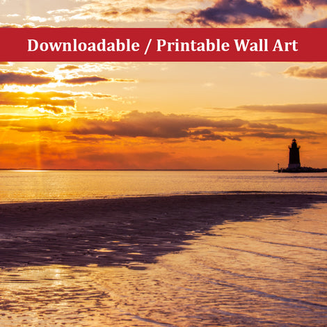 Cape Henlopen Sunset Landscape Photo DIY Wall Decor Instant Download Print - Printable