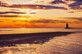 Cape Henlopen at Sunset Coastal Landscape Fine Art Canvas Wall Art Prints Coastal / Beach / Shore / Seascape Landscape Scene