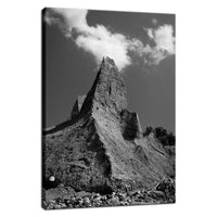 Chimney Bluff Black and White Landscape Fine Art Canvas Wall Art Prints Rural / Farmhouse / Country Style Landscape Scene