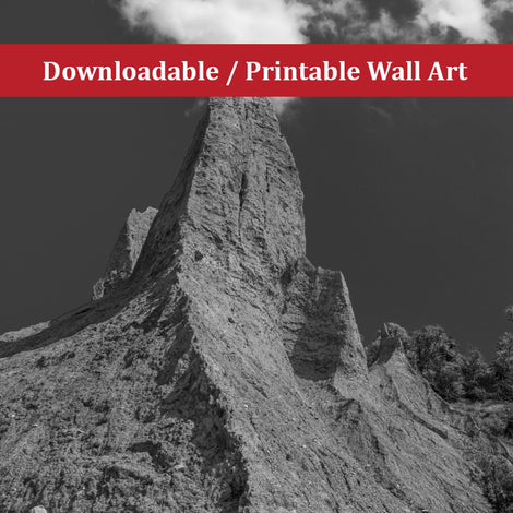 Chimney Bluff Landscape Photo DIY Wall Decor Instant Download Print - Printable
