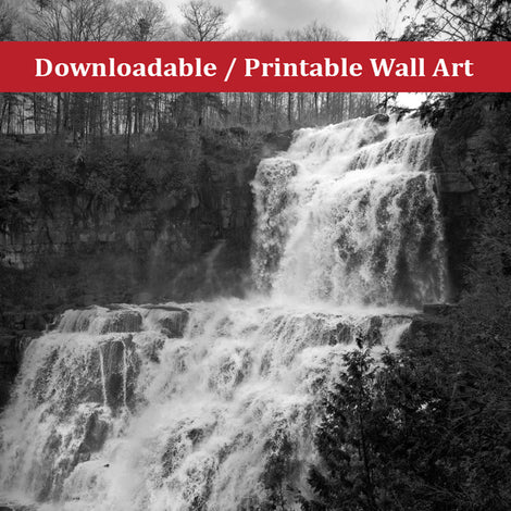 Chittenango Falls Landscape Photo DIY Wall Decor Instant Download Print - Printable