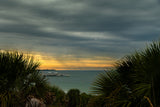 Cloudy Rainy Sunset De Soto Beach Coastal Landscape Fine Art Canvas Wall Art Prints  - PIPAFINEART