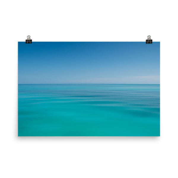 Colors of The Tropical Sea Abstract Coastal Landscape Photo Paper Poster  - PIPAFINEART
