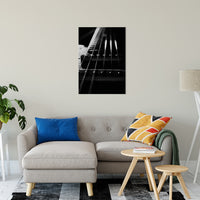 Guitar Cords Low Key Black and White Abstract Photo Fine Art Canvas & Unframed Wall Art Prints - PIPAFINEART