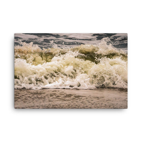 Crashing Ashore Coastal Nature Canvas Wall Art Prints