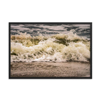 Crashing Ashore Coastal Nature Photo Framed Wall Art Print  - PIPAFINEART