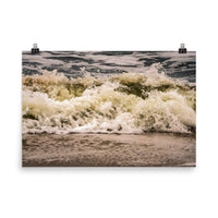 Crashing Ashore Coastal Nature Photo Loose Unframed Wall Art Prints  - PIPAFINEART