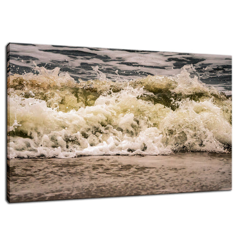 Crashing Ashore Beach Art Coastal Nature Photo Fine Art Canvas Wall Art Prints