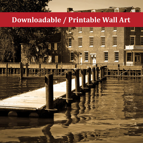 Delaware City Dock Landscape Photo DIY Wall Decor Instant Download Print - Printable