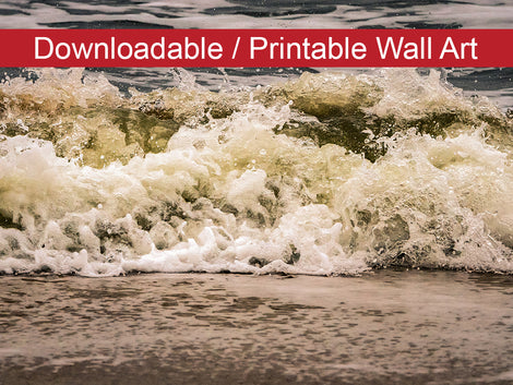 Crashing Ashore Coastal Nature Photo DIY Wall Decor Instant Download Print - Printable