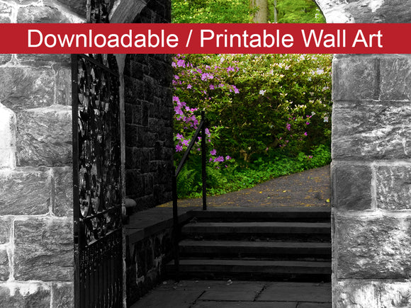 Digital Wall Art, Downloadable Prints, Floral Nature Photograph Garden Entryway - Wall Decor Instant Download Print - Printable