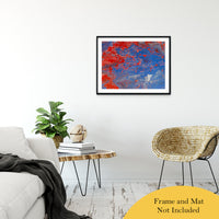 "Acrylic Dirty Paint 13 Abstract Art, Fluid Art Fine Art Canvas &  Unframed Wall Art Prints 24"" x 36"" / Classic Paper - Unframed - PIPAFINEART"