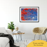 "Acrylic Dirty Paint 13 Abstract Art, Fluid Art Fine Art Canvas &  Unframed Wall Art Prints 30"" x 40"" / Classic Paper - Unframed - PIPAFINEART"