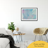 "Acrylic Dirty Paint 23 Abstract Art, Fluid Art Fine Art Canvas &  Unframed Wall Art Prints 24"" x 36"" / Classic Paper - Unframed - PIPAFINEART"