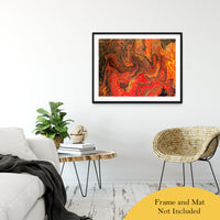 "Acrylic Dirty Paint 24 Abstract Art, Fluid Art Fine Art Canvas &  Unframed Wall Art Prints 30"" x 40"" / Classic Paper - Unframed - PIPAFINEART"