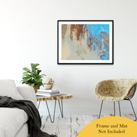 "Acrylic Dirty Paint 27 Abstract Art, Fluid Art Fine Art Canvas &  Unframed Wall Art Prints 30"" x 40"" / Classic Paper - Unframed - PIPAFINEART"