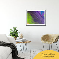 "Acrylic Dirty Paint 29 Abstract Art, Fluid Art Fine Art Canvas &  Unframed Wall Art Prints 24"" x 36"" / Classic Paper - Unframed - PIPAFINEART"
