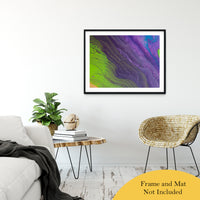 "Acrylic Dirty Paint 29 Abstract Art, Fluid Art Fine Art Canvas &  Unframed Wall Art Prints 30"" x 40"" / Classic Paper - Unframed - PIPAFINEART"