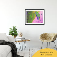 "Acrylic Dirty Paint 30 Abstract Art, Fluid Art Fine Art Canvas &  Unframed Wall Art Prints 24"" x 36"" / Classic Paper - Unframed - PIPAFINEART"