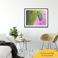 "Acrylic Dirty Paint 30 Abstract Art, Fluid Art Fine Art Canvas &  Unframed Wall Art Prints 30"" x 40"" / Classic Paper - Unframed - PIPAFINEART"