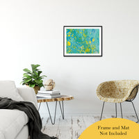 "Acrylic Dirty Paint 35 Abstract Art, Fluid Art Fine Art Canvas &  Unframed Wall Art Prints 20"" x 30"" / Classic Paper - Unframed - PIPAFINEART"