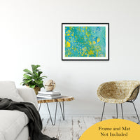 "Acrylic Dirty Paint 35 Abstract Art, Fluid Art Fine Art Canvas &  Unframed Wall Art Prints 24"" x 36"" / Classic Paper - Unframed - PIPAFINEART"