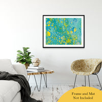 "Acrylic Dirty Paint 35 Abstract Art, Fluid Art Fine Art Canvas &  Unframed Wall Art Prints 30"" x 40"" / Classic Paper - Unframed - PIPAFINEART"