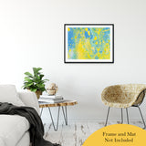 "Acrylic Dirty Paint 36 Abstract Art, Fluid Art Fine Art Canvas &  Unframed Wall Art Prints 24"" x 36"" / Classic Paper - Unframed - PIPAFINEART"