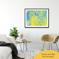 "Acrylic Dirty Paint 36 Abstract Art, Fluid Art Fine Art Canvas &  Unframed Wall Art Prints 30"" x 40"" / Classic Paper - Unframed - PIPAFINEART"